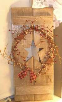 Wooden Star Cutout Shutter