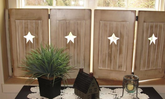 Primitive Wood Country Window Shutters