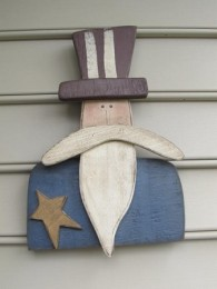 Wooden Patriotic Uncle Sam