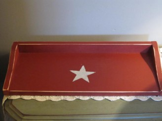 Wooden Painted Toilet Topper Tray